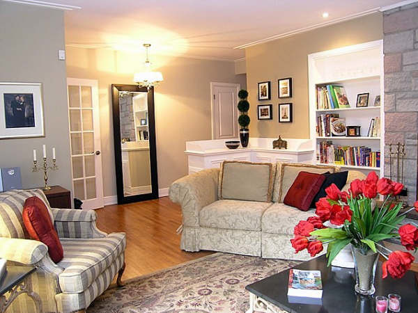 1950 S Prairie Style Bungalow Redecoratedtraditional Living Room Montreal