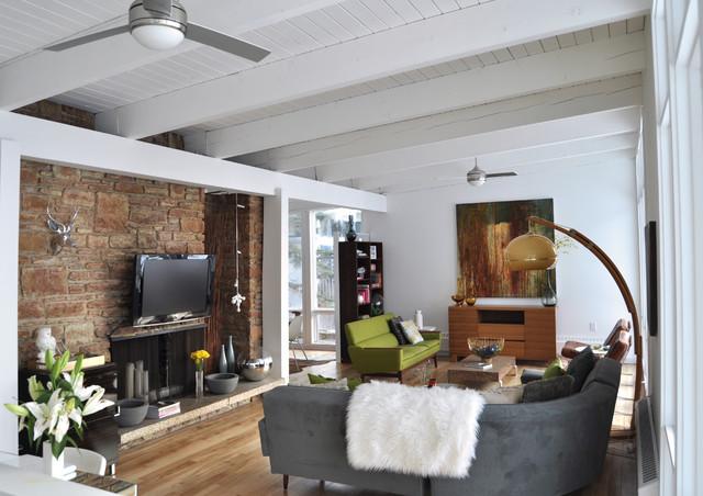 1958 Mid Century Modern Living Room Remodel - Midcentury - Living ...