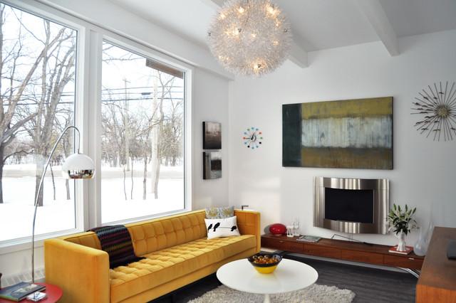 mid century modern remodel sunroom conversion midcentury living room