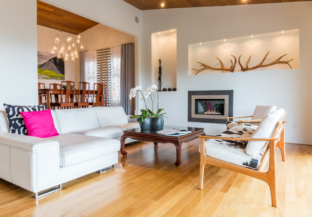 1980s Complete Remodel Contemporary Living Room Vancouver By Red Plum