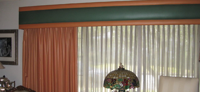 1988 window treatments still hanging traditional for Traditional window treatments living room