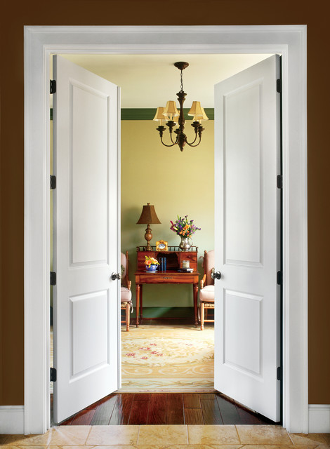 2 Panel Interior Door Contemporary Living Room