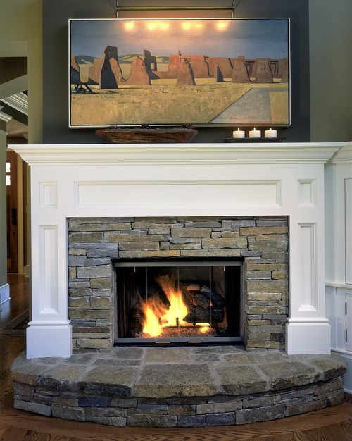 how do you determine the best dimensions for your stone and wood surround?  I have a 36 inch wide by 28 inch ......