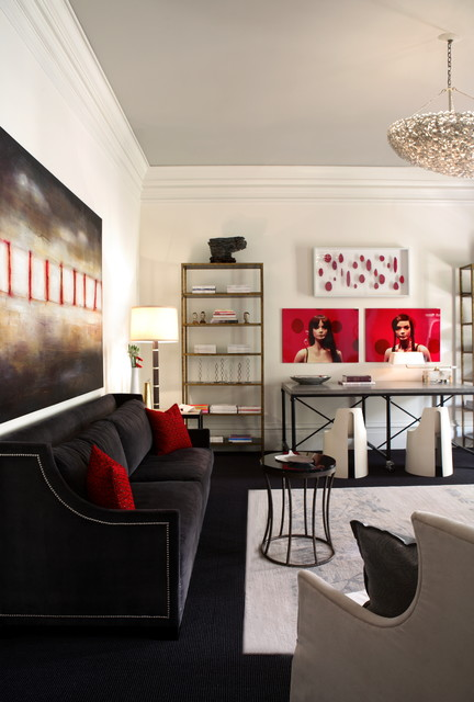 Hollywood Glamour In Black White And Red