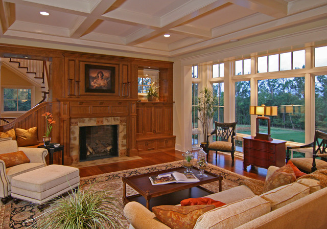 Example of a classic living room design in Minneapolis