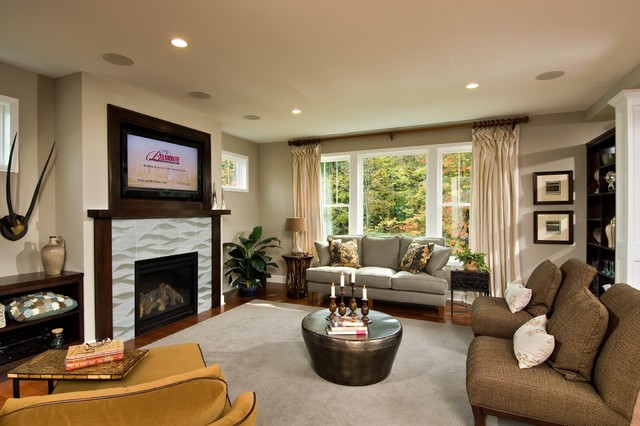 2011 showcase of homes contemporary living room for Plum living room designs