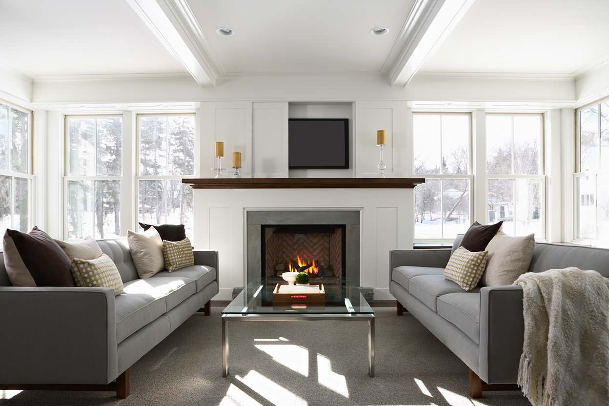 75 Beautiful Living Room With A Concealed Tv Pictures Ideas March 2021 Houzz