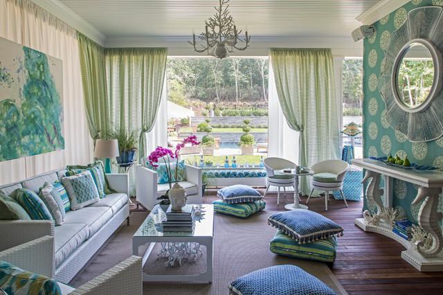2013 Hampton Porch Beach Style Living Room