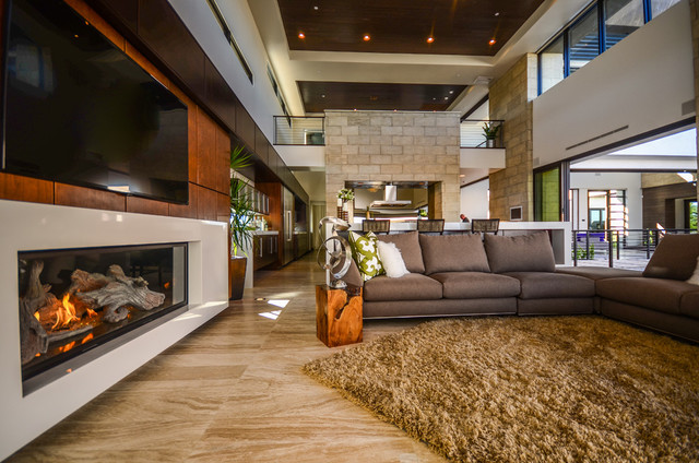2013 New American Homes contemporary-living-room