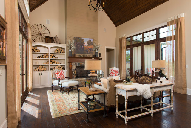 Charming 2013 Southern Living Custom Builder Showcase Home Rustic Living Room