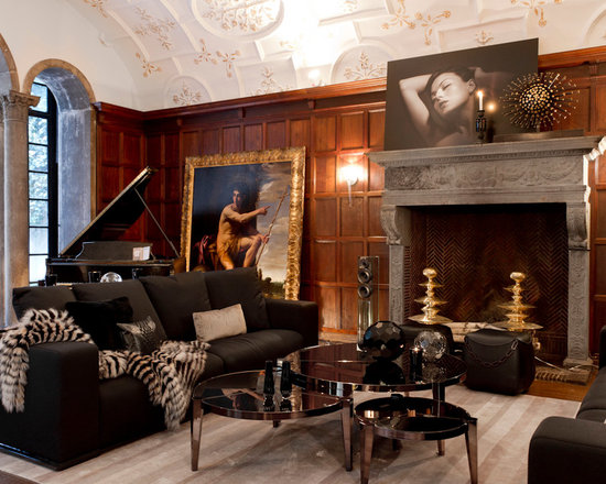 italian inspired living room home design ideas pictures remodel and decor. Black Bedroom Furniture Sets. Home Design Ideas