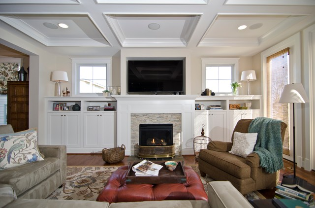 23rd Street, new construction - Traditional - Living Room ...