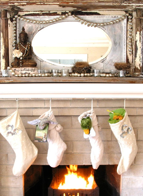 Living Room 25 Gorgeous Holiday Mantels by Houzzers