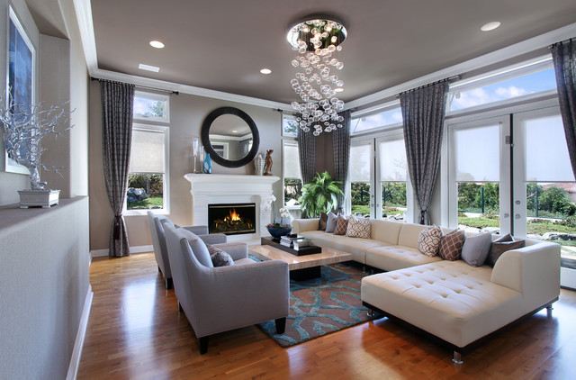 27 Diamonds Interior Design - Contemporary - Living Room - Orange ...