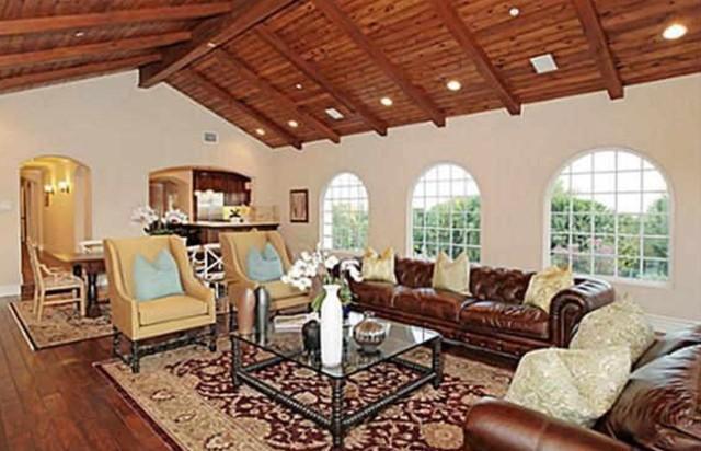 3 200 Sq Ft Addition And Remodel La Habra Ca Mediterranean Living Room