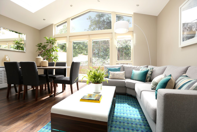 3 Bed Semi Detached Refurbishment Extension Modern Living Room Dublin By Carton Interiors Houzz Nz