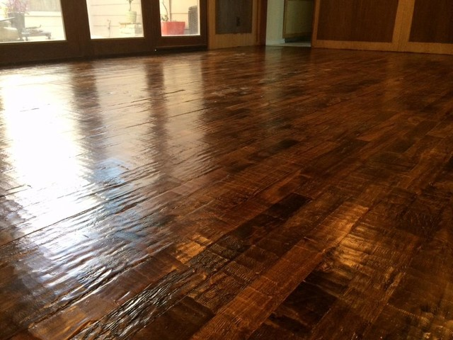 #3 Handscraped Maple Flooring - Transitional - Living Room - dallas - by Davis Bell - Wholesale ...