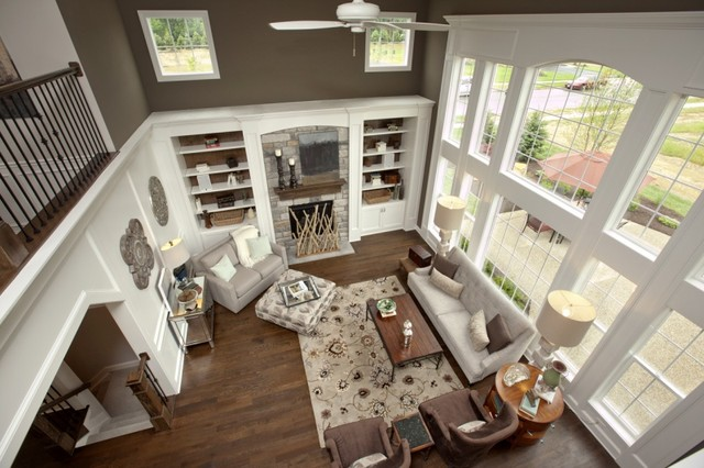 3 pillar homes parade house traditional living room for 2 story great room house plans