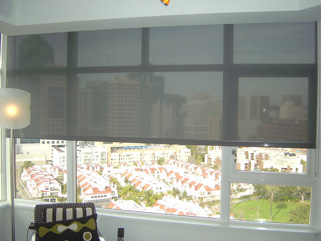 3 Screen Motorized Roller Shades Open And Close