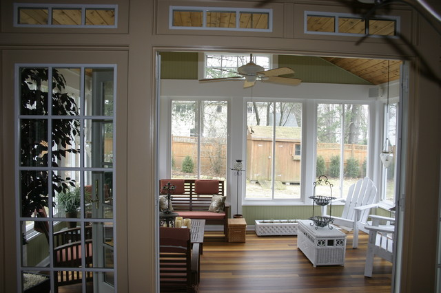 3 season porch family room and new kitchen traditional for All season rooms