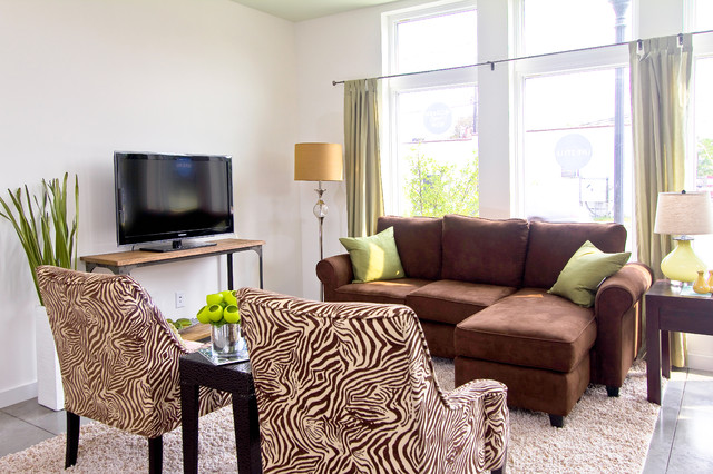 modern living room by Just Perfect! Home Staging + More