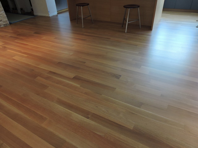 4 rift sawn white oak with natural sealer in boulder for Hardwood flooring deals