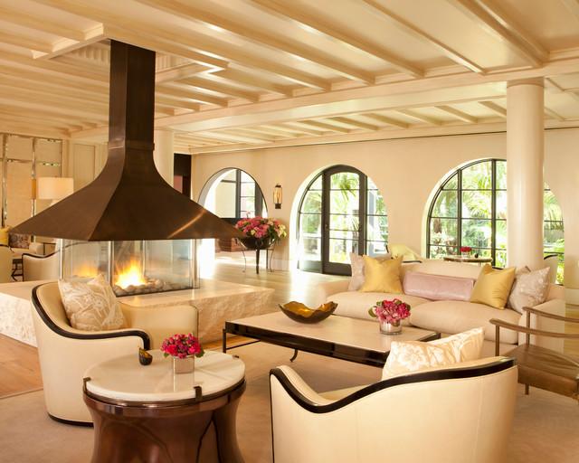 4' x 4' Custom Gas Fireplace - Contemporary - Living Room ...