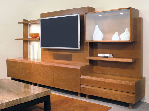 40-02 Trio Entertainment Unit - Contemporary - Living Room - New York - by Cliff Young Ltd.