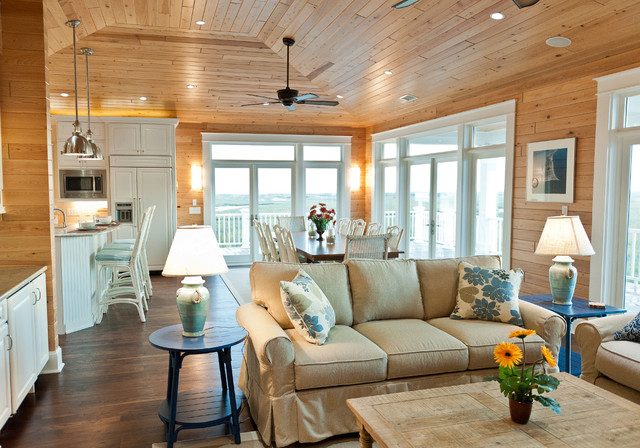 40th Street rustic-living-room