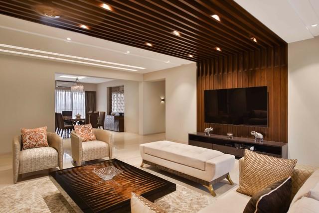 4bhk Apartment At Bkc Contemporary Living Room Mumbai By Milind Pai Architects Interior Designers