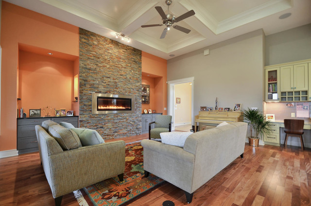 5 star custom home transitional living room austin for 5 star living rooms