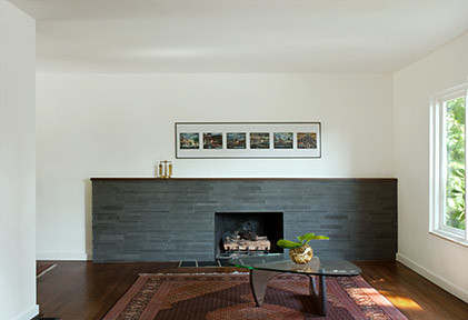 50s Bungalow Renovation Contemporary Living Room