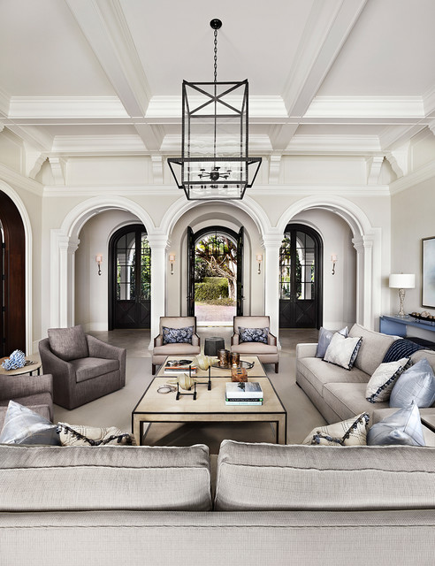 Luxury Transitional Living Room