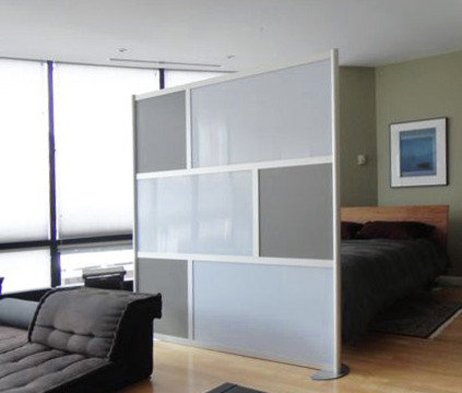 Modern Room Divider, Gray - Modern - Living Room - dallas - by ...