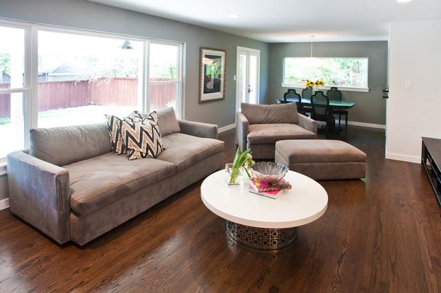 6428 Contemporary Living Room Dallas By Modern Craft Construction Llc