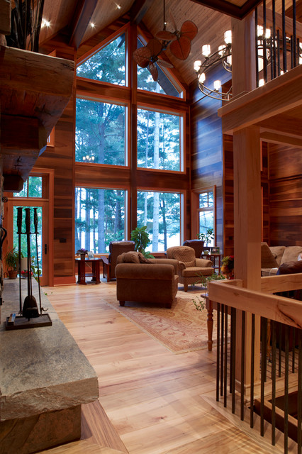 70551 ontario traditional living room toronto by for Cedar home designs