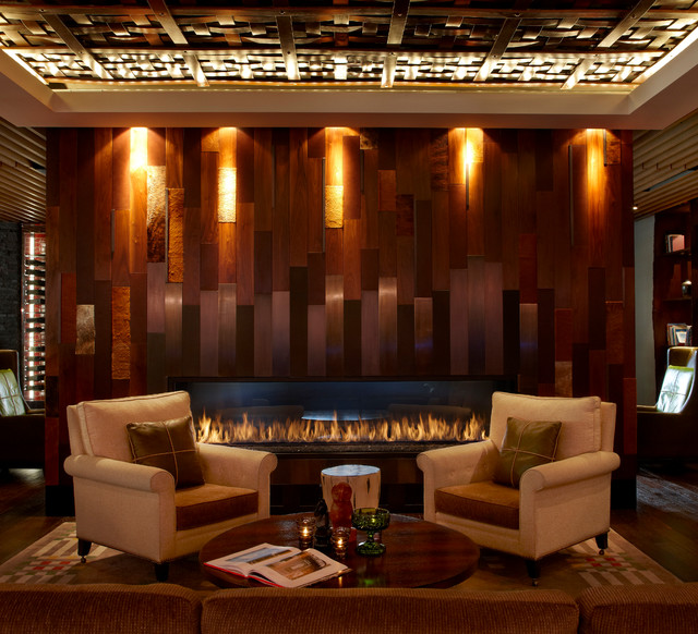 8 Custom Gas Fireplace Contemporary Living Room