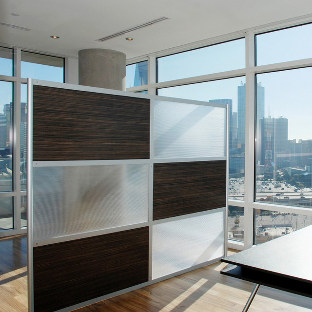 8 Modern Room Divider Ebony and Translucent panels Modern