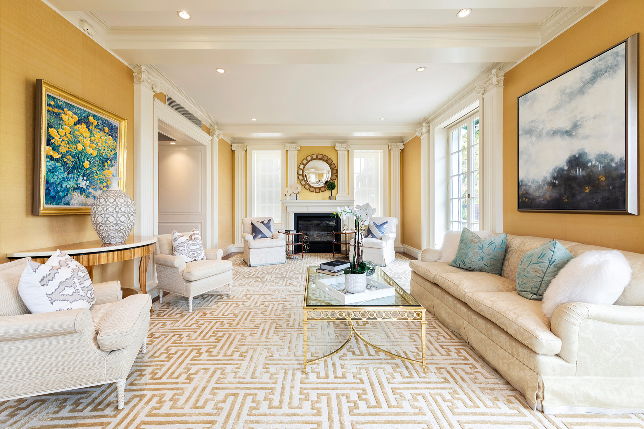 75 Beautiful Living Room With Yellow Walls Pictures Ideas January 2021 Houzz