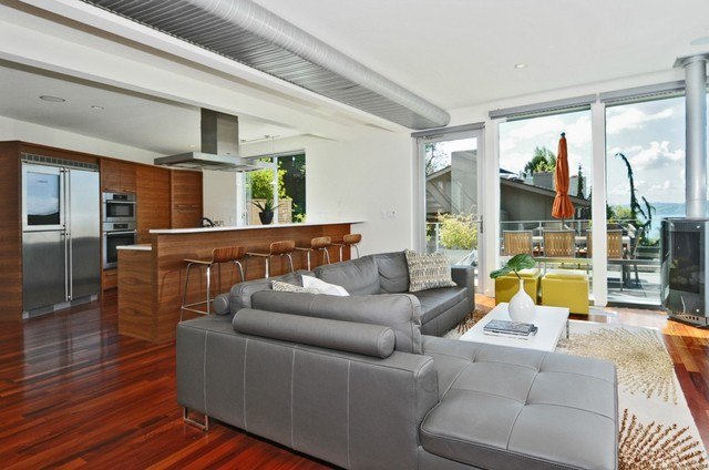 8th West Residence Modern Living Room Seattle by Rhodes