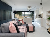 contemporary-living-room Houzz Tour: 1980s Home Updated for a Family's Modern Lifestyle Upholstery in London