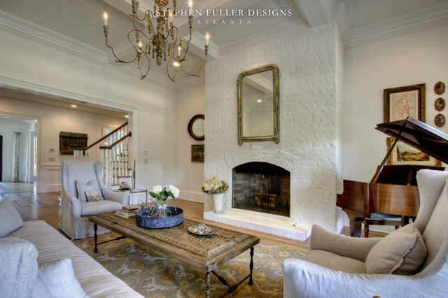 A Classic American House In North Atlanta Traditional Living Room