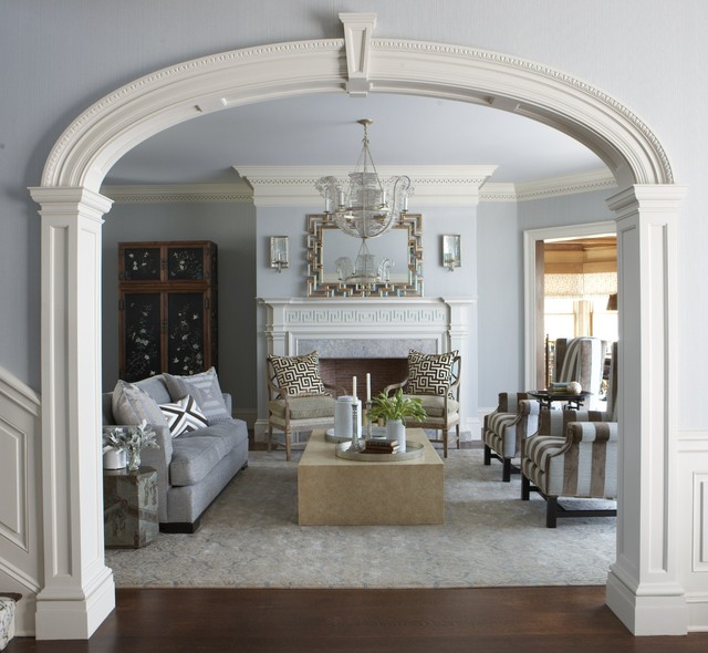 A Classic Ct Home With A Modern Flair Traditional Living Room New York By Cindy Rinfret
