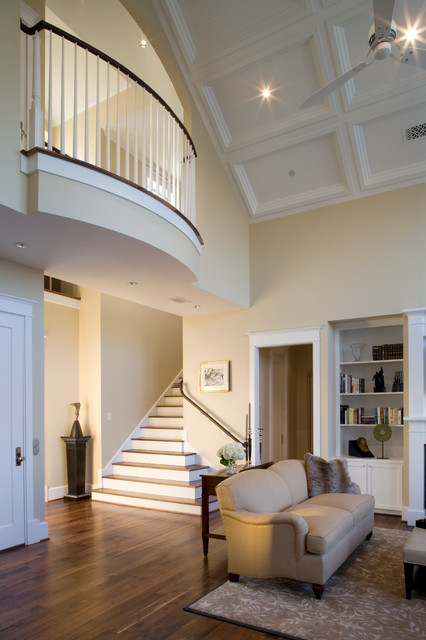 A coastal classic home craftsman living room houston for Coastal craftsman interiors