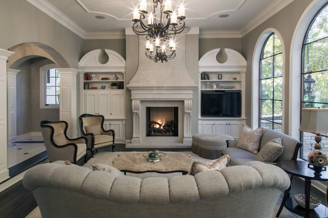 A French Estate traditional-living-room