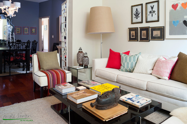 A Glamorous DC Apartment Eclectic Living Room