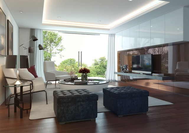 a homey living room in jakarta contemporary living