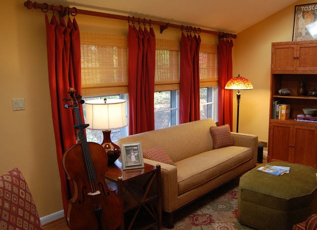 A Living Room for Music, Reading, and Entertaining eclectic-living-room
