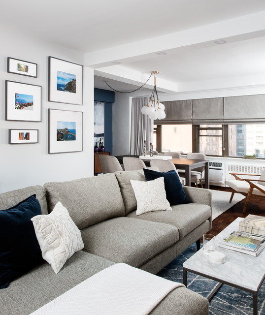 A Mid-Century Modern Apartment Makeover - Contemporary ...