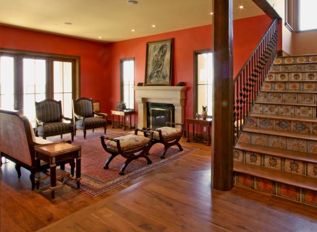 A Moorish Wine Country Hilltop Retreat mediterranean-living-room